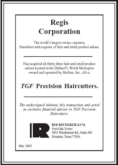 regis corporation 2002